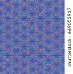 vector color dot pattern.... | Shutterstock .eps vector #669053917