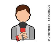 professional microphone transmit | Shutterstock .eps vector #669058303
