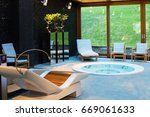 spa center with hot tub | Shutterstock . vector #669061633