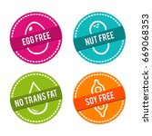 set of allergen free badges.... | Shutterstock .eps vector #669068353