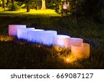 crystal singing bowls.... | Shutterstock . vector #669087127