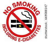 no smoking including electronic ... | Shutterstock .eps vector #669088147