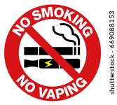 no smoking including electronic ... | Shutterstock .eps vector #669088153