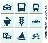shipment icons set. collection... | Shutterstock .eps vector #669092527