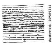 hand draw line | Shutterstock .eps vector #669098563
