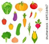 veggies vector   Shutterstock .eps vector #669116467
