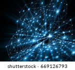 abstract background with... | Shutterstock . vector #669126793