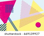 creative geometric colorful... | Shutterstock .eps vector #669139927