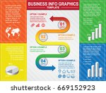 colorful business poster design ... | Shutterstock .eps vector #669152923