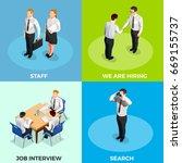 recruitment isometric 2x2... | Shutterstock .eps vector #669155737