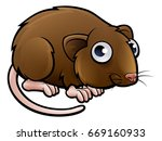 a vole or brown mouse cartoon... | Shutterstock . vector #669160933