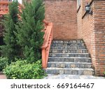 Black Stone Stairs And Old...