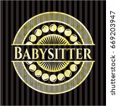 babysitter gold shiny badge | Shutterstock .eps vector #669203947