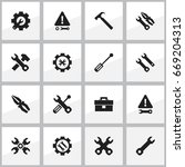 set of 16 editable toolkit...