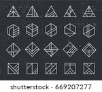 vector set of abstract linear... | Shutterstock .eps vector #669207277