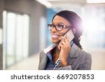talking to a loved one after a... | Shutterstock . vector #669207853