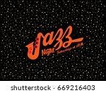jazz  night music club poster | Shutterstock .eps vector #669216403