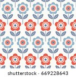 seamless pattern with flowers | Shutterstock .eps vector #669228643