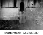 scary ghost woman in haunted... | Shutterstock . vector #669233287