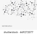connection concept. geometric... | Shutterstock .eps vector #669272077
