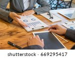 business group working at the...   Shutterstock . vector #669295417