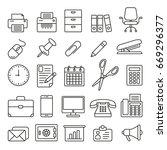 office supplies  thin... | Shutterstock .eps vector #669296377