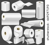 realistic toilet paper roll and ... | Shutterstock .eps vector #669297193
