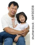 asian father and daughter on... | Shutterstock . vector #66930358