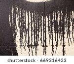dripping paint at an wall ...   Shutterstock . vector #669316423