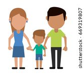 happy family united | Shutterstock .eps vector #669319807