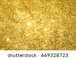 abstract golden light bokeh... | Shutterstock . vector #669328723