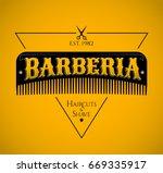 barberia  barbershop spanish... | Shutterstock .eps vector #669335917