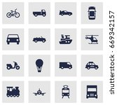 set of 16 shipping icons set... | Shutterstock .eps vector #669342157