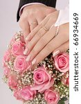 hands of newly married with... | Shutterstock . vector #66934669