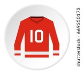 red canadian hockey jersey icon....   Shutterstock .eps vector #669350173