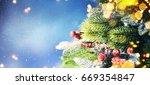 christmas snow background. | Shutterstock . vector #669354847