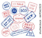 abstract vintage sale stamp... | Shutterstock .eps vector #669362323