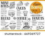 bakery food menu for restaurant ... | Shutterstock .eps vector #669369727