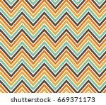 chevrons abstract pattern... | Shutterstock .eps vector #669371173