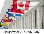 picture of the canadian flag... | Shutterstock . vector #669373687