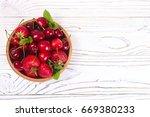 delicious fresh berries of... | Shutterstock . vector #669380233