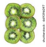 sliced kiwi on the white ...   Shutterstock . vector #669396097
