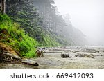 the rugged oregon coast at the... | Shutterstock . vector #669412093