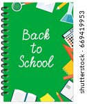 cover design with education... | Shutterstock .eps vector #669419953