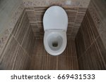 toilet bowl in the toilet. ... | Shutterstock . vector #669431533