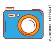 camera photographic isolated... | Shutterstock .eps vector #669443167