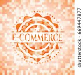e commerce abstract orange... | Shutterstock .eps vector #669447877