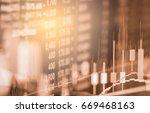 index graph of stock market...   Shutterstock . vector #669468163