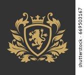 royal luxury logo design... | Shutterstock .eps vector #669503167