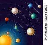 vector illustration of planets... | Shutterstock .eps vector #669511837